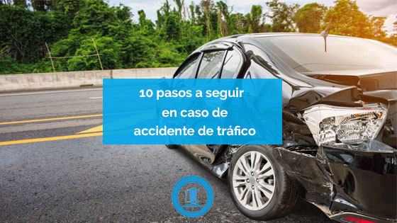 pasos a seguir en accidente de trafico
