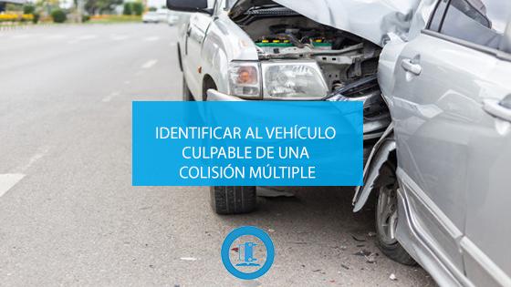 Identificar al vehículo culpable de una colisión múltiple