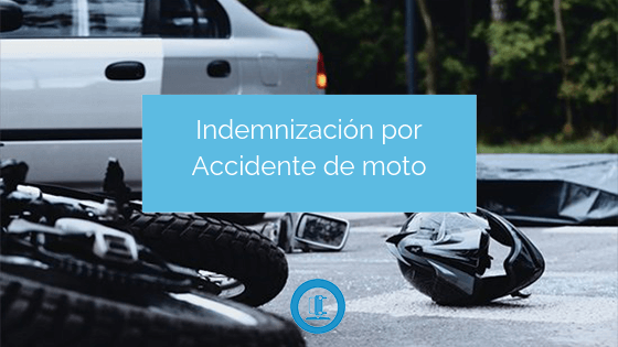 indemnización por accidente de moto