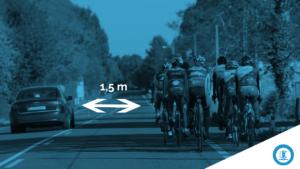 adelantar a ciclistas